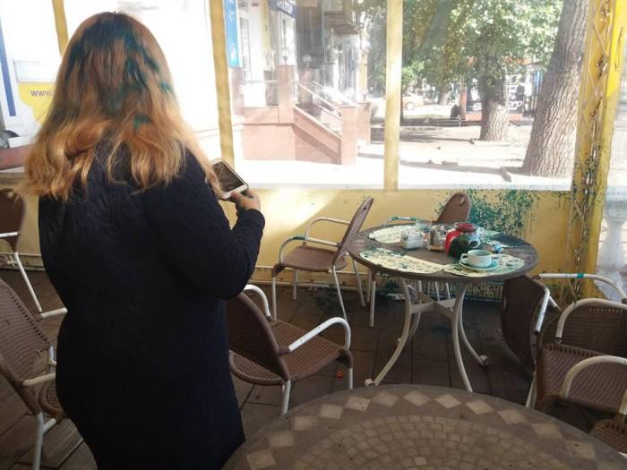 В Запорожье руководителя пророссийской организации облили зеленкой, фото-4