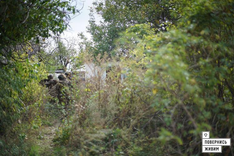 Украинские военные провели зачистку в селе под Волновахой, фото-5
