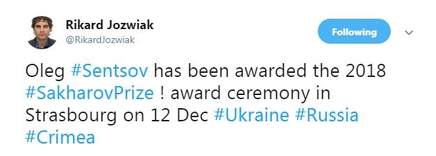 Олег Сенцов стал лауреатом премии им. Сахарова, фото-2