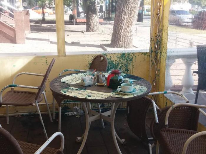 В Запорожье руководителя пророссийской организации облили зеленкой, фото-5