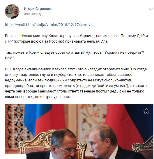 «Может и Крым отдать?». Гиркин возмутился словами Лаврова об Украине, фото-2