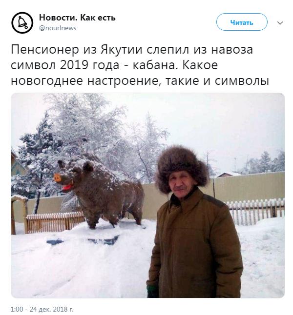 В России из навоза слепили символ 2019 года: опубликованы фото, фото-2