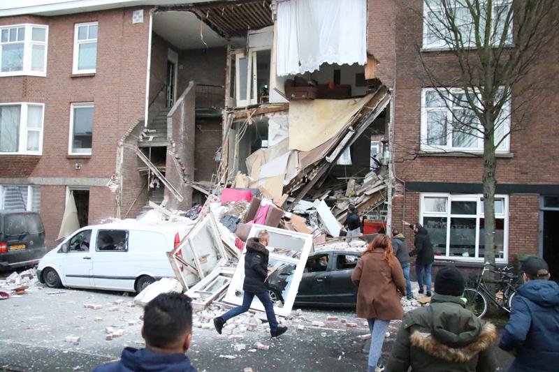 В Гааге прогремел взрыв, обрушились фасады нескольких домов, фото-14