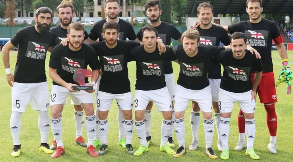 «Наша страна оккупирована»: грузинские футболисты протестовали против политики России, фото-4