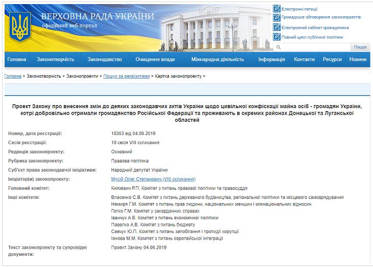 В ВР внесли законопроект о конфискации имущества жителей ОРДЛО, получивших паспорта РФ, фото-2