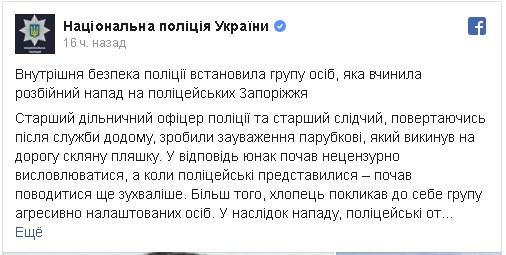 Травмы мозга и переломы костей и черепа: в Запорожской области жестоко избили полицейских, фото-2